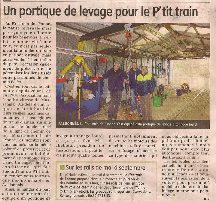 Un portique au petit train